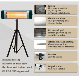 Ceiling hang space radiant heater