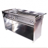 Electric multifunctional BBQ roasting cart